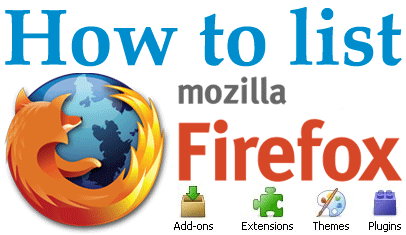 Post image for How to: List Firefox's addons, plugins and themes